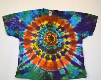 All Seeing Eye Tie Dye T-Shirt (Fruit of the Loom Heavy Cotton Size 4XL) (One of a Kind)