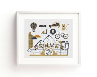 Denver Letterpress Art Print