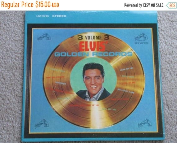 SPRING CLEANING SALE 1963 Elvis Presley Volume 3 Great Hits vinyl Lp Golden Records 1963 Rca Victor lpm/lsp-2765
