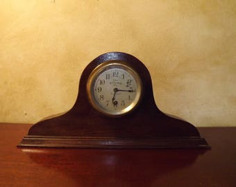 Antique Chelsea Brass Firehouse Mantel Clock The Gamewell Co. New York