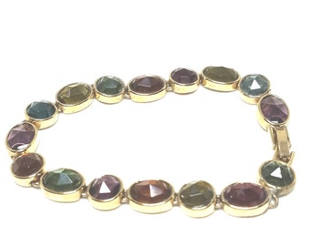 Multi Color Vintage Faceted Bracelet
