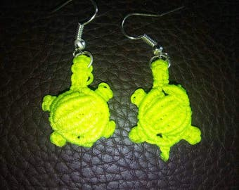 Boucle oreille tortue