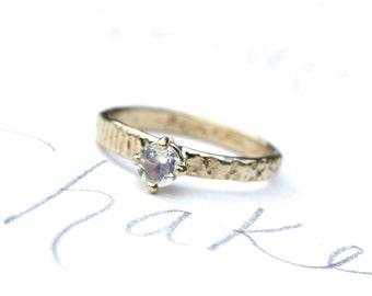 rainbow moonstone engagement ring . diamond alternative engagement ring . bomemian moonstone ring . boho engagement ring by peacesofindigo