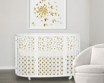 Stokke Sleepi Bedding  // Italian Oeko-Tex trim // Gold // Ready To Ship (RTS)