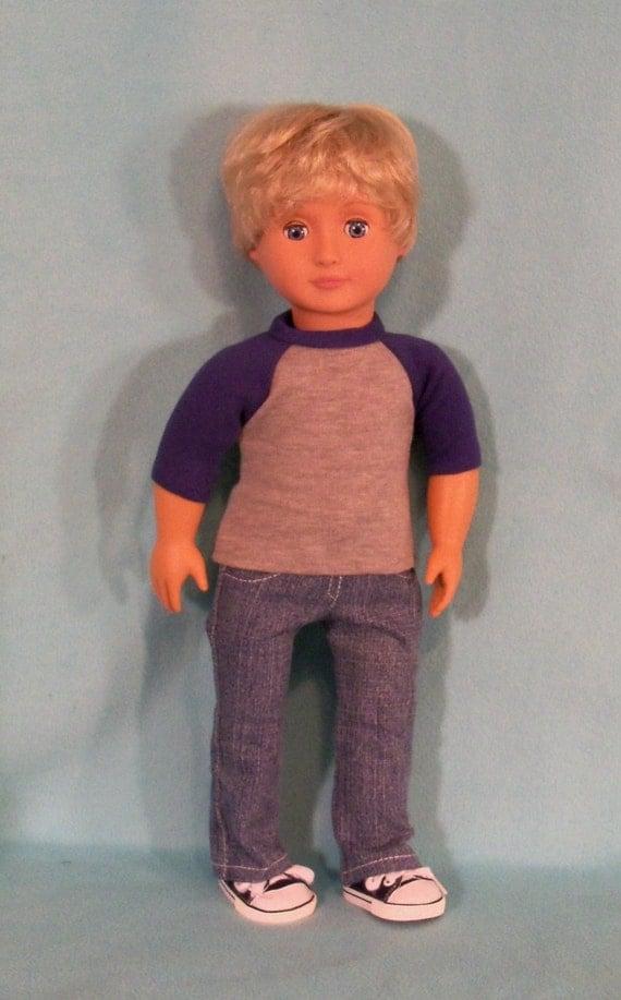 18 inch Boy Doll Denim Jeans