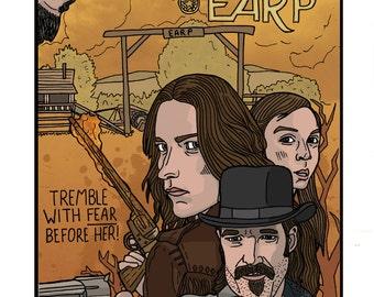 Wynonna Earp 'Crazy Chick With A Gun' - A4 Art Print