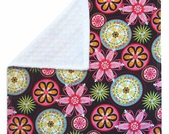 Carnival Bloom Cuddle Blanket with Minkee (Minky)