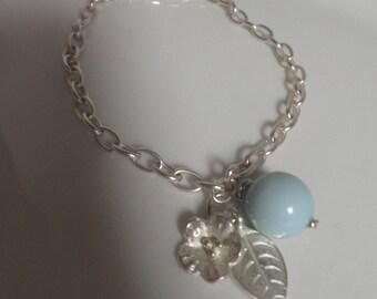 Robin's Egg Blue Bracelet, handmade