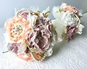 Custom fabric brooch bouquet reserved for Rythmi