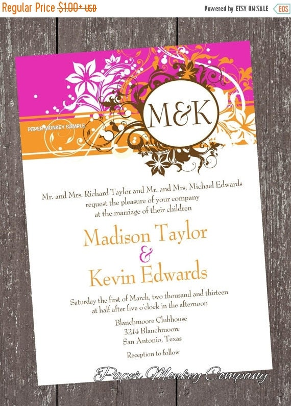SALE Spring Floral Invitations For Any Occasion