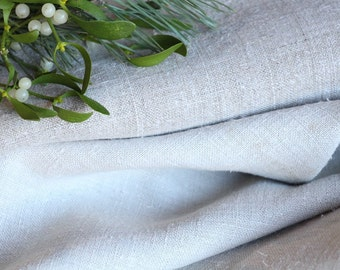 P 404 : antique handloomed 9.83 yards french 리넨 two-toned upholstering curtain projects wedding Greyish