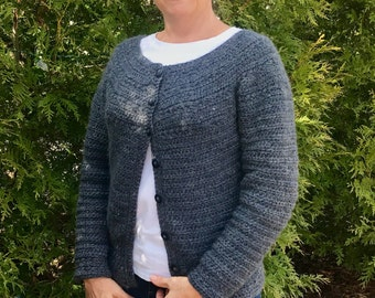 Stargazer Cardigan Crochet PATTERN - Women - Cardigan Crochet PATTERN - Seamless - one piece
