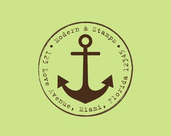 Custom Anchor Stamp   Wedding Stamp   Custom Wedding Stamp   Custom Rubber Stamp   Custom Stamp   Personalized Stamp   Beach Wedding C597