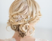 Bridal Hair Combs, Freshwater Pearl and Crystal Hair Comb, Wedding Hair Accessories