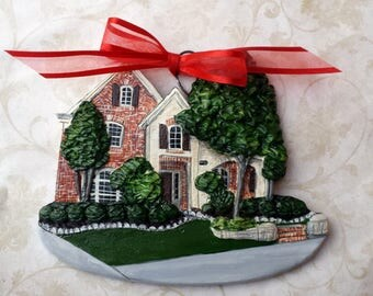 Custom listing for Blessedx4-  one Custom House Ornament - a cherished keepsake of your home