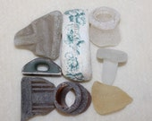 AWESOME BEACH FOUND Treasures Stopper,pottery handle and other treasures zy 340