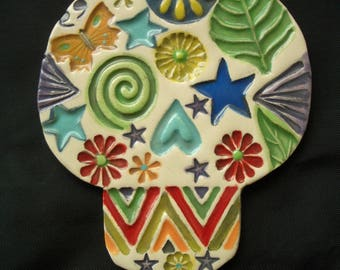 P.J. - Intricate SUGAR SKULL - Ceramic Mosaic Tiles