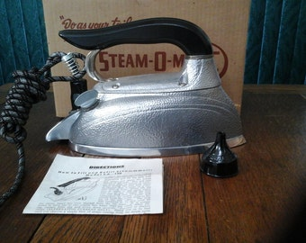 Steam Iron Steam O Matic by Waverly Vintage Apparel Iron and Steamer