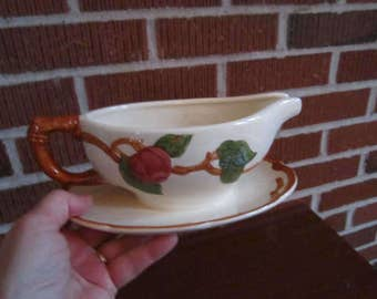 Vintage 1960s Franciscan Pottery APPLE Gravy Boat Pitcher PERFECT