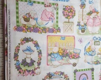 Vintage Cotton Bunny Rabbit Daisy Kingdom total 2-3/4yd