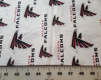 "Atlanta Falcons Cotton print 7/8yd 58"" wide"