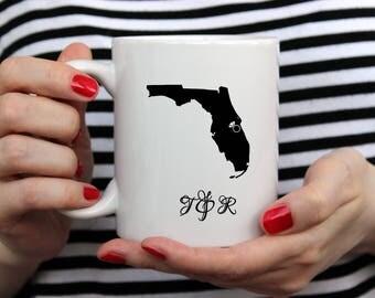 Custom Ceramic Coffee Mug, Unique Custom Coffee Mugs, Personalized Coffee Mug, Engagement Mug, Wedding Mugs, Unique Wedding Gift Initial Mug