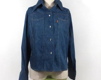 Levis Denim Jacket Vintage 1970s Jean Orange Tab Women's