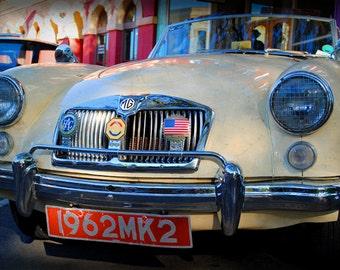 1962 MG - Classic Car - Garage Art - Pop Art - Fine Art Photograph