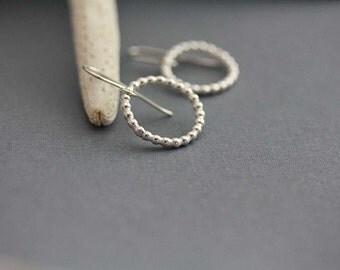 sterling silver hoops earrings, circle earrings, small hoop earrings