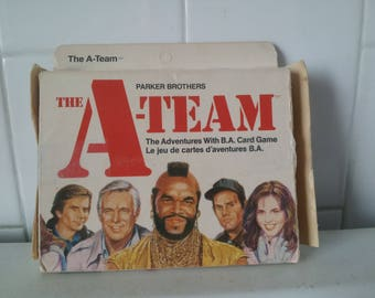 Vintage Parker Brothers The A-Team Adventures with B.A. Card Game