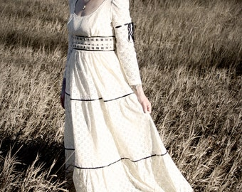 Upcycled Cream Lace Dress