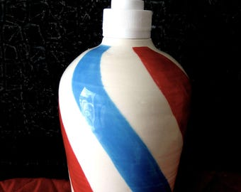 barber pole soap dispenser