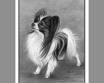Papillon Dog Note Cards - set of Eight