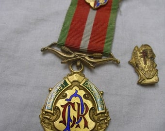2 Fraternal Medals, Ancient Order of Foresters, and Modern Health Crusaders. late 1800s etc.