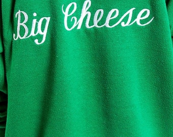 30% off SPRING SALE The Vintage Knit Big Cheese Crewneck Sweatshirt