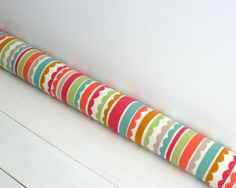 Door Draft Stopper - Kid's Bedroom Decor - Door Snake - Nursery Decor - Whimsical Decor - Girl's Room Decor - Pretty Stripes. 12