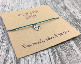 Partridge Bracelet - Fertility Bracelet - Meaningful Bracelet - IVF Bracelet - Cord Bracelet - Rope Bracelet - Miracles Bracelet