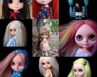 Custom commission spot services. Only complete doll, with reroot and face up. Only original Takara Blythe dolls. I include the doll.