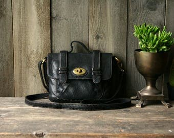 Leather Crossbody Purse Fossil Medium Size 1990s Vintage From Nowvintage on Etsy