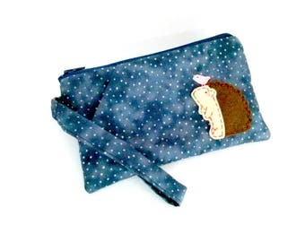 Wristlet clutch purse iPhone 6s plus wristlet phone pouch wallet cute hedgehog gift for her for mom for girlfriend iPhone 6 phone case