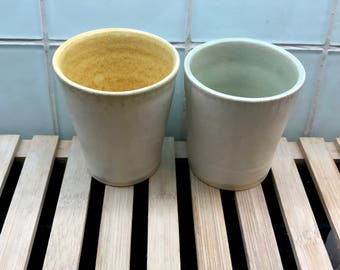 Ceramic Tumblers - two cups / wine cups / ceramic cups / matte glazed pottery