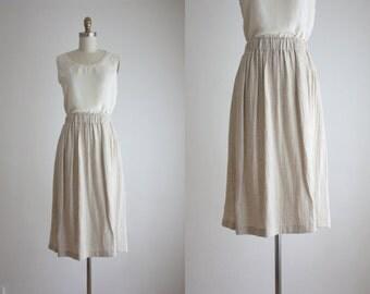 flax midi skirt