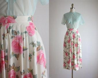 rose garden midi skirt