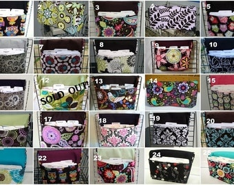 "Large 4"" Size Coupon Organizer /Budget Organizer Box- Attaches to your Shopping Cart - Pick your fabric - Group Two"