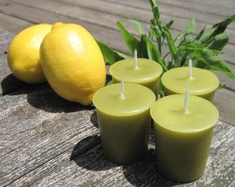 SAGE AND CITRUS (4 votives or 4-oz soy jar candle)