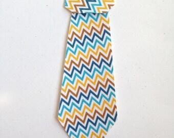 1 Medium Fabric Iron On Necktie Applique