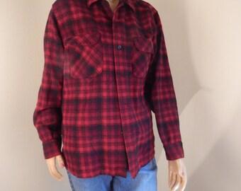 Mens wool pendleton, lumberjack shirt