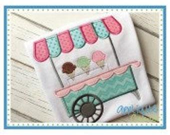 SAMPLE SALE Ice Cream Cart Shirt Personalized  - Read Description for Details
