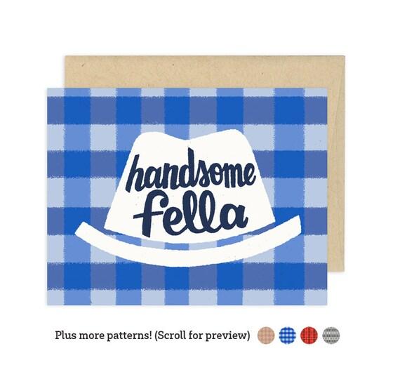 Handsome Fella Illustrated Greeting Card