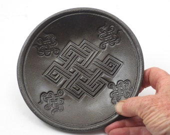Pottery  Offering Bowl  Handmade Pottery ENDLESS KNOT